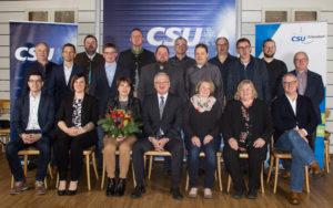 Die CSU-Stadtratskandidaten mit Bürgermeisterkandidat Johannes Reger